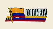 Colombia Logo Embroidered Iron on or Sew on Patch