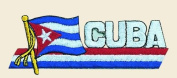 Cuba Logo Embroidered Iron on or Sew on Patch
