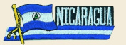 Nicaragua Logo Embroidered Iron on or Sew on Patch