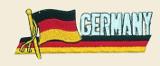 Germany Logo Embroidered Iron on or Sew on Patch