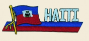 Haiti Logo Embroidered Iron on or Sew on Patch