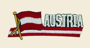 Austria Logo Embroidered Iron on or Sew on Patch