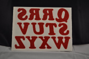Holiday 3.2cm Glitter Iron-On Letters in Red