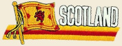 Scotland Logo Embroidered Iron on or Sew on Patch