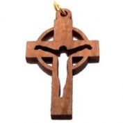 "Olive wood Cross Laser Pendant (3.4x2.1 cm or 1.4x0.8"") - modern"