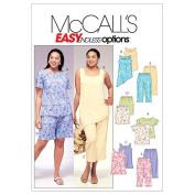 McCall's Patterns M4097 Women's Top, Tunics, Shorts and Capri Pants