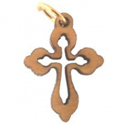 Olive wood Eastern mini-Cross Laser Pendant