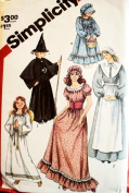 Vintage Simplicity Peasant Girl, Witch, Angel Sewing Pattern # 5741