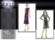 Vogue V8145 Misses or Petite Stretch Knit Easy A-line Sleeveless or Long-Sleeve Dress Sewing Pattern Size EE 14-16-18-20