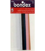 "Bondex Mend And Repair with No Sew Iron-On Patch Fabric Mending Tape 1.25x7"" (3.175cm x 17.78cm) White, Beige, Black, Navy, Pink, Tan"