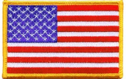 United States iron-on embroidered patch