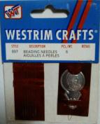 Westrim Crafts Bead Needles with Threader 7 pc