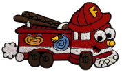 Cute Cartoon Fire Engine Truck Retro Classic DIY Applique Embroidered Sew Iron on Patch