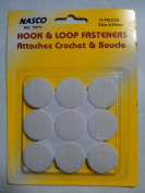 Nasco Hook & Loop Fasteners Attaches Crochet & Boucle- Round-15011