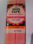 J & P Coats Bias Tape WIDE 3 yards Pink 31