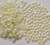 1000pcs Flatback Pearl 3mm--- Cream White By Pixiheart