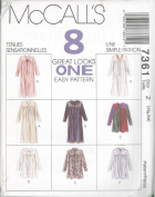 McCall's 7361 Misses' Robe in 2 Lengths, Size Z 20 22 24 26