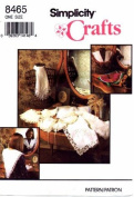 Simplicity 8465 Crafts Sewing Pattern Lace Collars with Transfer
