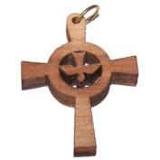 Holy Spirit Olive wood Dove Cross Laser