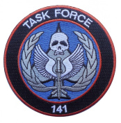 Call of Duty Modern Warfare Task Force 141 Logo [Black/Red] Embroidered PATCH