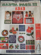 SANTA PACK 1313 FROM VOGUE PATTERNS CHRISTMAS MOTIFS - HOT IRON TRANSFERS FOR EMBROIDERED PROJECTS