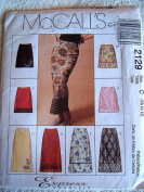 MISSES SKIRT IN TWO LENGTHS SIZE 10-12-14 MCCALLS EXPRESS YOURSELF SEWING PATTERN 2129