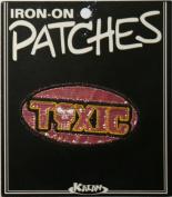 Toxic Metallic Iron On Applique Patch