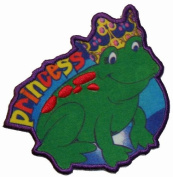 Little Girl Princess Frog Iron On Patch