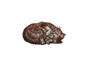 ID #2970 Cat Kitty Kitten Embroidered Iron On Applique Patch