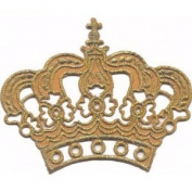""""""" Crown """" Iron On Patch Gold"""