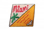 ID #7957 Miami Mail Stamp Badge Iron On Embroidered Patch Applique