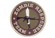 Brown Zombie Response Team Patch w/ Hook Back