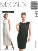 McCall's Sewing Pattern 8246 Misses' Lined Dress, Size 12