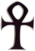 Ankh Embroidered Patch 7cm X 4cm