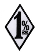 1% er 1 % 1%er 1er Outlaw Chopper Motorcycle Club Gang Biker DIY Applique Embroidered Sew Iron on Patch
