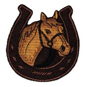 Horse Racing Horse Racehorse Horseshoe DIY Applique Embroidered Sew Iron on Patch