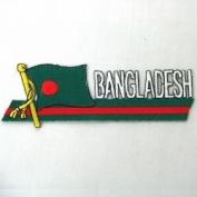 Bangladesh Sidekick Word Country Flag Iron on Patch Crest Badge .. 3.8cm X 11cm ... New