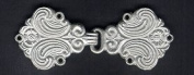 Ornate Matte Silver Finish Cloak or Cape Clasp