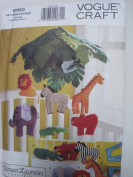 Vogue Pattern 9160 Jungle Animal Pillows & Mobile