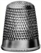 C.S. Osborne Closed End Sewing Thimble 1.9cm - No. 11