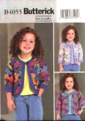 Butterick Sewing Pattern B4055 Girls' Patchwork Jacket,