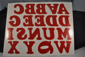 Holiday 5.1cm Iron-On Letters in Red Glitter
