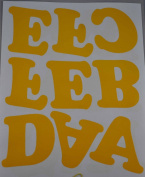 7.6cm Iron-On Letters in Yellow