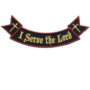 Ribbon Rocker I Serve The Lord Christian Biker Patch!!!