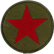 Red Star Embroidered Patch 9 CM Dia