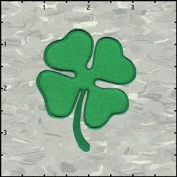 Shamrock 4 Leaf Clover Irish Green ST. Patrick Iron On Applique Patch