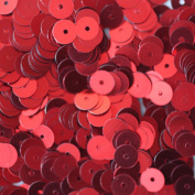 6mm FLAT SEQUINS Red Loose sequins for embroidery, applique, knitting, arts, crafts, and embellishment.