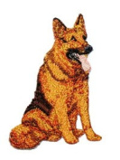 German Shepherd Dog Breed Embroidered iron on Patch