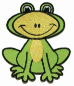 Green Frog Iron On Applique Patch EP196