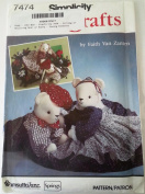 Simplicity 7474 : Sitting or Reclining Bear or Bunny - Sewing Patterns